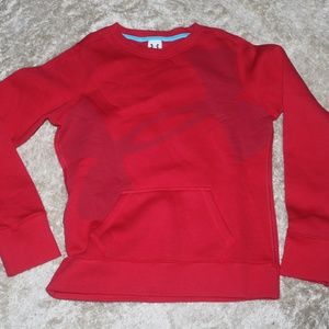 UNDER ARMOUR RED SWEATSHIRT FRONT POCKETS YOUTH L